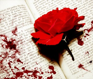 blood-soak-red-rose